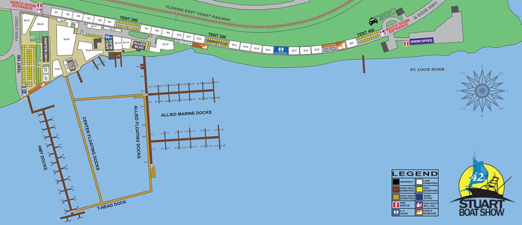 Stuart Boat Show Map 2016